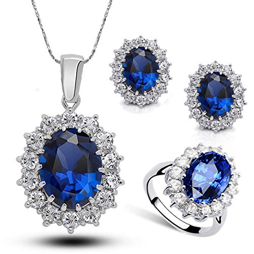 HINK Fashion Style Jewelry Set Crystal Ring Earrings Necklace Women Wedding Jewelry Woman Jewelry & Watches Jewelry Sets For Mother's Day Easter