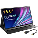 FANGOR Portable Monitor, 15.6 Inch 1080P Full HD IPS Portable Screen USB Type-C Computer Display with HDMI Type-C Port Dual Speaker Gaming Monitor for Laptop/PC/PS4/Xbox/Tablet/Cellphone/MAC/TV Stick