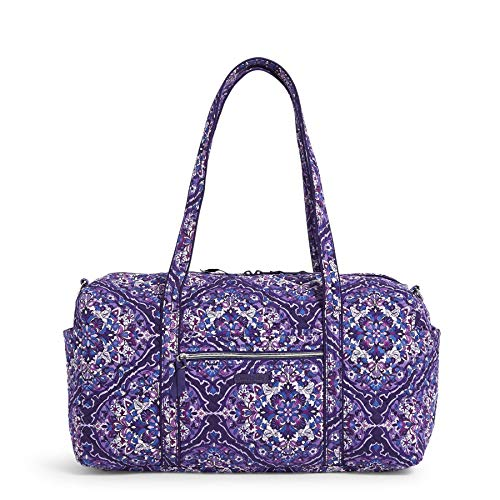 Vera Bradley Women's Signature Cotton Medium Travel Duffel Travel Bag, Regal Rosette, One Size