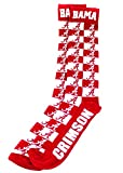 Donegal Bay NCAA Alabama Crimson Tide Unisex Alabama Checkerboard Dress Sockalabama Checkerboard Dress Sock, Red, One Size