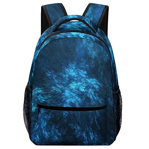 Mochila escolar clásica, mochila para niños pequeños, abstracta azul oscuro