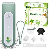 Bunique Ultra-Silent Hair Clipper Kit for Kids, All-in-One Baby Hair Trimmer with Extra Blade, Safe&Quiet for Infants, Toddler Boys, Children with Autism, Haircut Accessories Incl, Waterproof