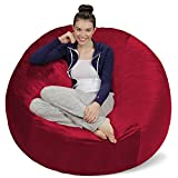 Sofa Sack - Plush Ultra Soft Bean Bags Chairs For Kids, Teens, Adults - Memory Foam Beanless Bag Chair with Microsuede Cover - Foam Filled Furniture For Dorm Room - Cinnabar 5'