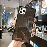 Cocomii Square Glitter iPhone 12 PRO Max Custodia, Sottile Lucido Morbido TPU Silicone Bordi Quadrati del Baule Case Bumper Cover Paraurti Compatible with Apple iPhone 12 PRO Max 6.7' (Black)