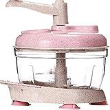 Procesador de la manivela Licuadora mezclador cortador de carne Alimentación Alimentación Manual Chopper amoladora for Hortalizas Separador Cebolla Ajo col patata tomate de ensalada de fruta procesado