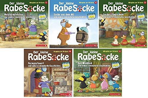 Der kleine Rabe Socke - Das Hörspiel zur TV-Serie / CD 11-15 (11+12+13+14+15) im Set - Deutsche Originalware [5 CDs]
