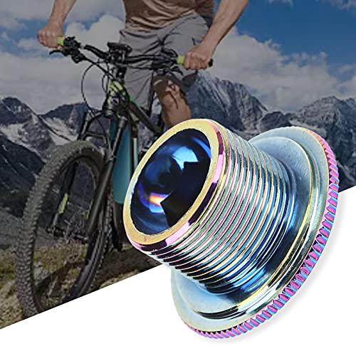 Zunate Tapa de manivela de Bicicleta Tapa de Tornillo de Juego de bielas de Ciclismo de aleación de Aluminio Tapa de Tornillo de Brazo de manivela de Bicicleta(M18)