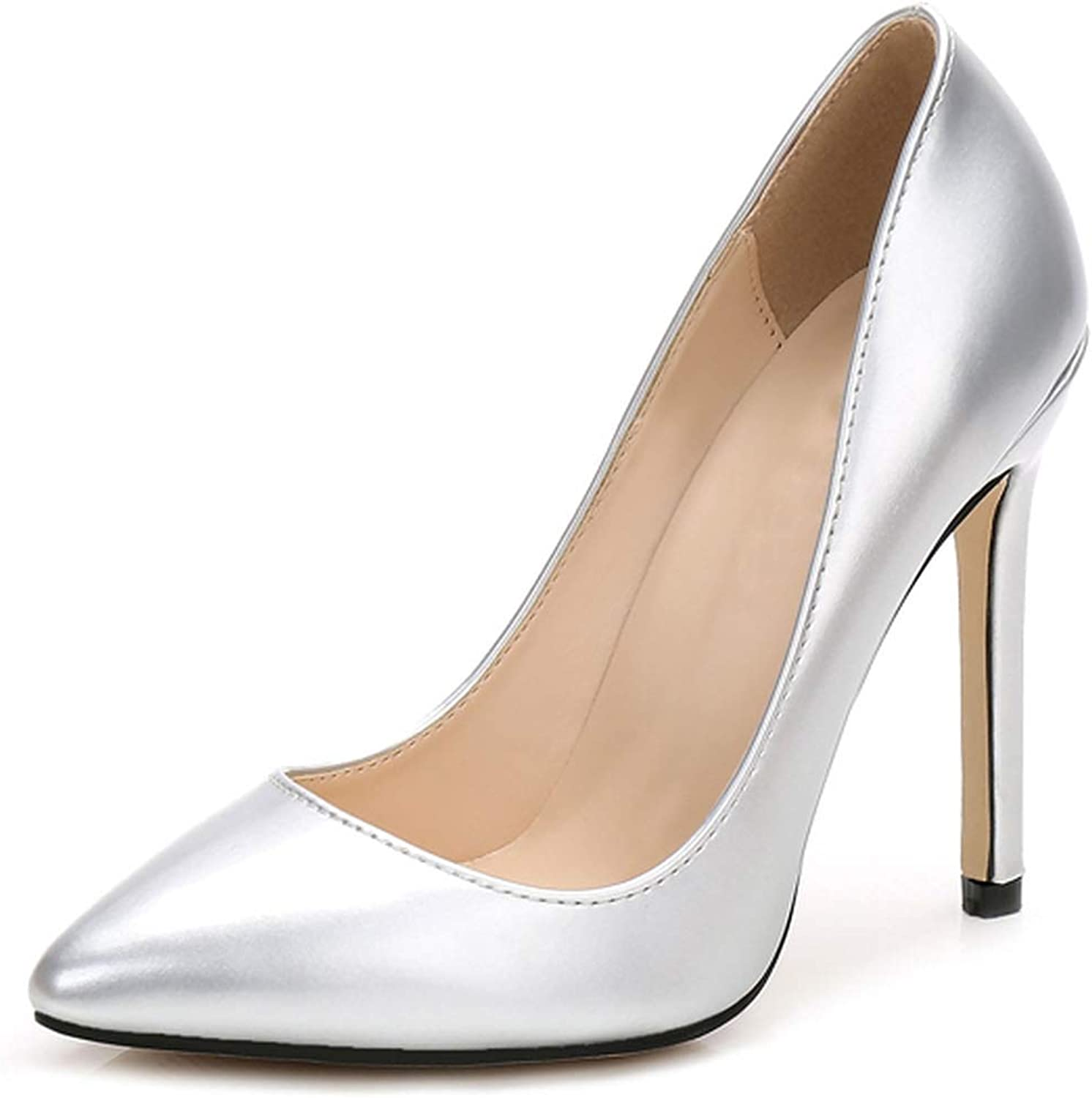 DATAIYANG High Heels Women Pumps Thin Classic Sexy Prom Wedding shoes Office Big Size Leather