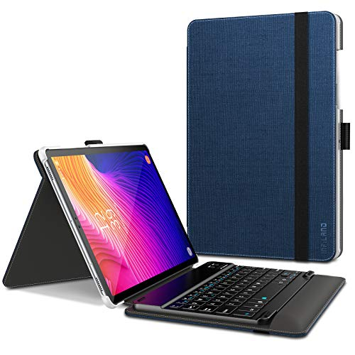Infiland Samsung Galaxy Tab S5e Case, Unique Fold Cover with Wireless Bluetooth Detachable Keyboard compatible with Samsung Galaxy Tab S5e 10.5 inch (T720/T725) 2019 Tablet,Navy