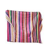 SHEDE Mantel de Borla Estilo Mexicano Patrón de Arco Iris Tira de Color de algodón Mantón Manta de Carnaval Adorable
