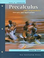 Precalculus with Trigonometry: Concepts and Applications 1559533935 Book Cover