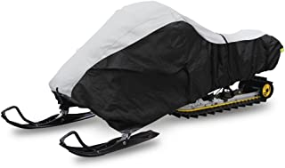 """Pyle 118"""" Heavy Duty Snowmobile Cover - Universal Design w/Non-Scratch Hood Liner, Elastic Cord & Waterproof Fabric for Safe Storage & Travel - Protects Against Mildew & UV Damage - PCVSNMEX16"""