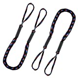 BELKA Bungee Dock Line 2 Pack Mooring Rope Bungee Cords for Boats Shock Absorb Dock Tie Boat Accessories for Pontoon, Jet Ski, Kayak, Canoe, Power Boat, WaveRunner (4 - 5.5 ft) Blue & Red