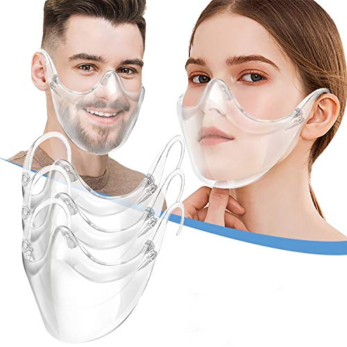 IRRIT Durable Highly Transparent face_ Shield 3pcs, with Adjusting Buckle for Coronàvịrụs Protectịon,Safe Polycarbonate Material Washable Breathable,for Women Men Outdoor Activities