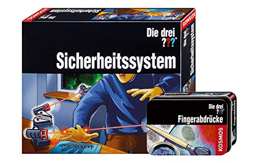 Franckh -Kosmos Die DREI ??? Sicherheitssystem mit LED Technik + Fingerabdrücke Detektiv Set im Kombiangebot