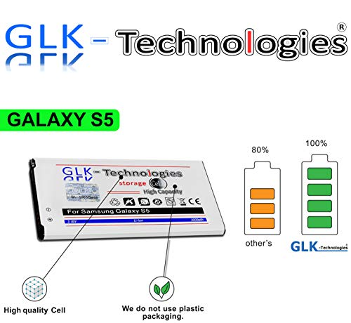 Original GLK-Technologies® | High Power 3000 mAh Akku für Samsung Galaxy S5 EB-BG900BBC EB-BG900BBE 2020!