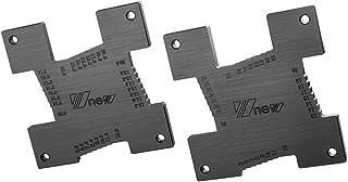 freneci 2 stycken precisions höjdmätare mätverktyg för fräsar och bordscirkelsåg