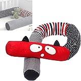 Culla paraurti trecce di Serpente Pillow Grigio 4m paracolpi Baby Treccia Cuscino per culle Letti a Mano Lungo Nodo Cuscino