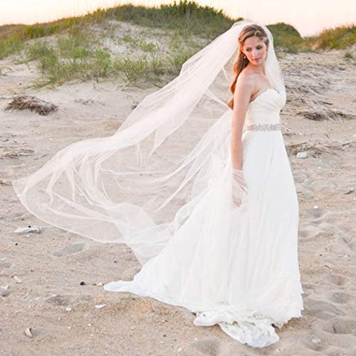 Whisttle 2 Tiers Bride Wedding Veil 47