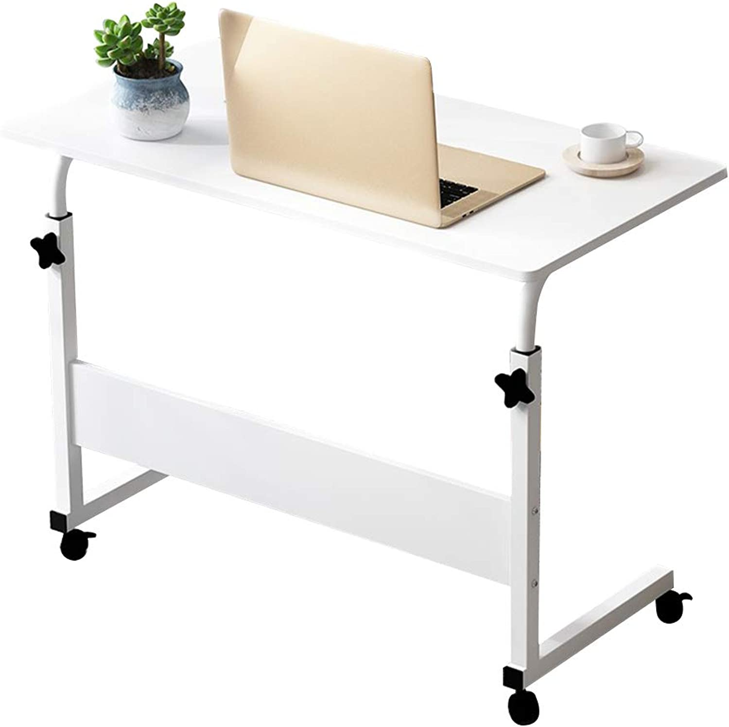 Coffee Table Lifting Side Tables Type C, Mobile Telescopic Notebook Writing Desk Household Bedside Nursing Table, 3 Sizes (Size   60  40 cm)