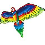 MaNMaNing 3D-P arrot 100 m Sola Linea Aquilone con Colla all'Aria Aperta Interessante Giocattolo Aquilone Famiglia Sport Giocattolo per Bambini A a