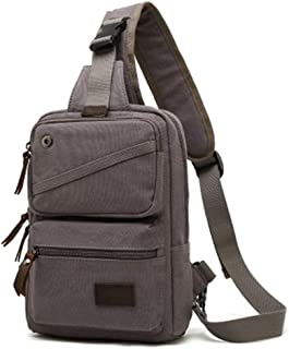 Mens Bag New Canvas Bag Men's Chest Bag Korean Version Of The Slung Bag Sports Ear Line Shoulder Bag High capacity