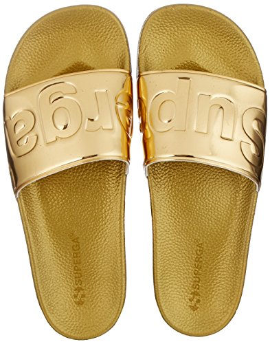 Superga Unisex-Erwachsene Slides Metallic Slipper, Gold (Gold), 38 EU