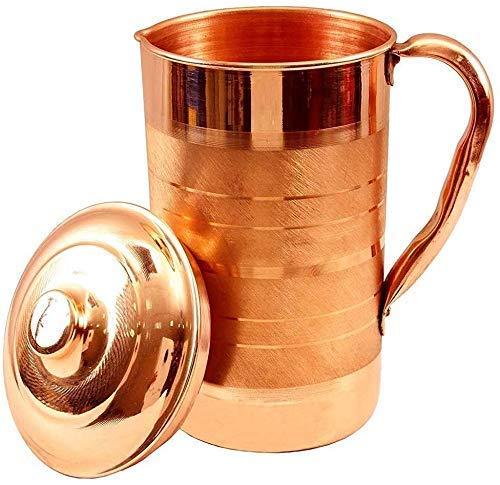 Aanand Shanika puro Pitcher Jarro de cobre para servir de almacenamiento de agua Ware 1250 ml Plata