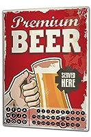 カレンダー Perpetual Calendar Beer Bar Pub Premium beer Tin Metal Magnetic Vintage