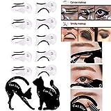Pochoirs pour eye-liner chat Sipliv 2 et 10 cartes pour gabarit eye-liner yeux outil de maquillage