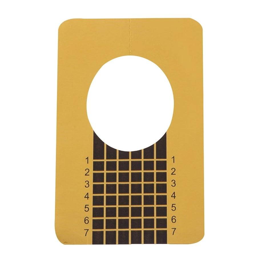 珍味腹部オークション100ピース/セットプロフェッショナルネイルツールのヒントネイルアートガイドフォームアクリルチップジェルエクステンションステッカーネイルポリッシュカールフォームゴールド(色:金色)