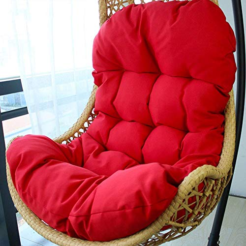 Zairmb Wicker rattan Hanging egg Chair pads, Lounge Outdoor Patio balcony Multiple colou120x85x15cm(Only Cushion)-120x85x15cm(47x33x6in) D