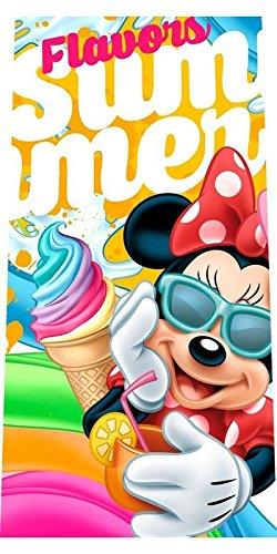Toalla de playa algodon de Minnie Mouse