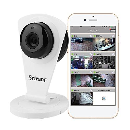 Sricam SP009C Mini Wlan IP Camera 720P HD Wasserdicht USB Überwachungskamera mit Bewegungsmelder und Speicher