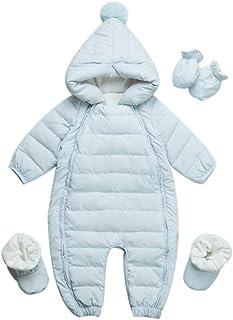 Baby nest ベビー服 ジャンプスーツ カバーオール 長袖ロンパース ダウンコート フード付き 防寒 秋冬用 男の子 女の子