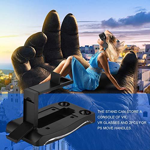 Mxtech Playstation per Supporto PS4, Luce LED Blu Facile da installare ABS Stazione di Ricarica Controller Facile da Usare, per Altre periferiche di Gioco per PS4 VR