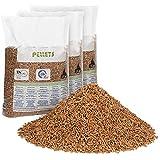 FlashPrix pellet para estufa 15kg x 3 sacos, de madera reciclada y biomasa, para lecho de conejos, gatos y más mascotas