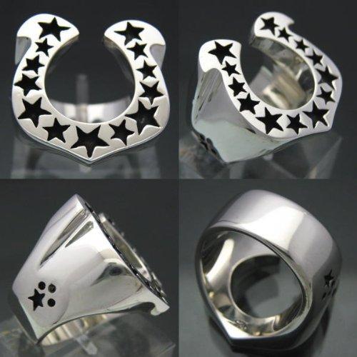 『馬蹄の指輪 ホースシューリング [15号] シルバー925 銀製アクセサリー』の1枚目の画像