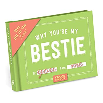 Knock Knock Why You re My Bestie Fill in the Love Book Fill-in-the-Blank Gift Journal 4.5 x 3.25-Inches