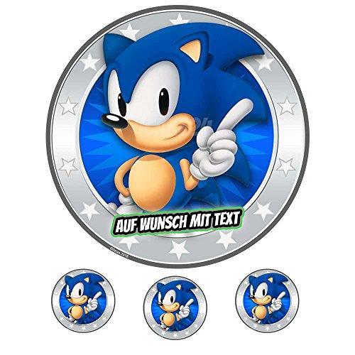 Tortenaufleger Geburtstag Tortenbild Zuckerbild Oblate Motiv: Sega Sonic 01 (Zuckerpapier)