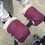 Handwärmer Kinderwagen - Kinderwagen Zubehör Wasserdicht Baby Stroller Hand muff Kinderwagen Handschuhe Kinderwagen Muff Handwärmer Innenseite Wasserdicht und Winddicht (Lila M)