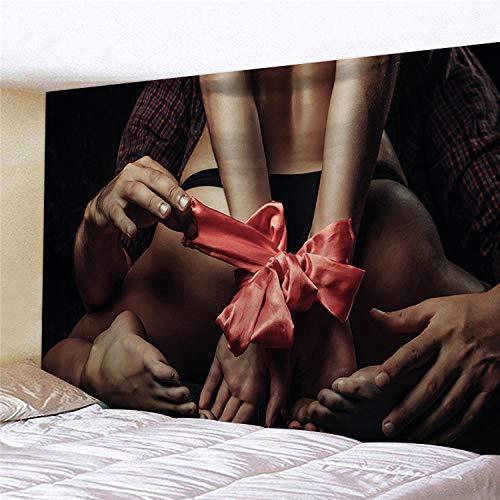 Tarot tapiz clásico Retro sexy dibujo de línea femenina pareja amor dormitorio lienzo colgante decorar vida hogar 150x200cm / L