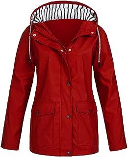Womens Waterproof Lightweight Rain Jacket Active Outdoor Hooded Raincoat Coat