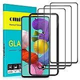 "omitium Protector Pantalla para Samsung Galaxy A51, [3 Pack] Samsung Galaxy A51 Cristal Templado [Cobertura máxima][ [Marco Instalación Fácil] Dureza 9H Vidrio Templado Samsung Galaxy A51, 6,3"""