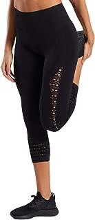 FKSESG Women Yoga Pants Hollow-Out High-Waist Hip-up Leggings Leisure Running Seven-minut Pants