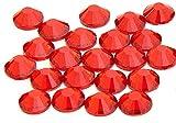 EIMASS Strass di Grado A con retro piatto per costumi, custodie del cellulare, oggetti personali-7747 - ss20 (4.8mm), 100 x Rosso Siam