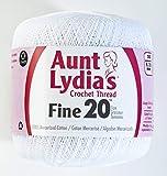 Coats Crochet Fine Crochet Thread, 20, White