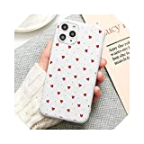Romantic Lovely Love Heart Phone Case Candy Color for iPhone 11 12 Mini Pro XS Max 8 7 6 6S Plus X 5S SE 2020 XR-a9-for iPhone XS