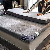 LQ&XL Japonés Colchón de futón Tatami,Engrosamiento Colchón,Estudiante Dormitorio Colchoneta de Dormir,Plegable Engrosamiento Futón,Colchón de Piso,Gris,90 * 200cm
