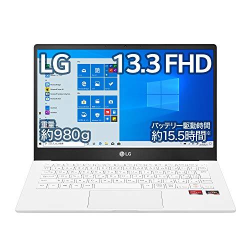 LG ノートパソコン Ultra PC 980g/バッテリー最大15.5時間/AMD Ryzen 7/13.3インチ フルHD/メモリ 16GB/SSD 512GB/USB Type-C/ホワイト/13U70P-GA74J (2021年モデル)/Amazon.co.jp限定
